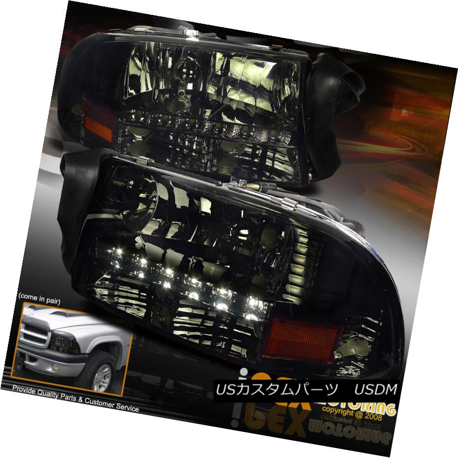 ヘッドライト [ SHINY SMOKE ] 1997-2004 Dodge Dakota Durango LED Headlights W/ Signal Lights [SHINY SMOKE] 1997-2004 Dodge Dakota Durango LEDヘッドライトW /シグナルライト
