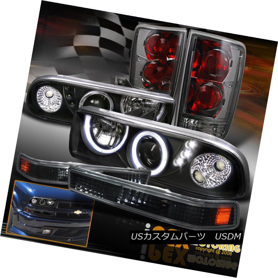 ヘッドライト Dual Halo Projector LED Headlight + Soft-Smoke Tail Light + Signals Chevy Blazer デュアルヘイロープロジェクターLEDヘッドライト+ソフト煙テールライト+信号シボレーブレイザー