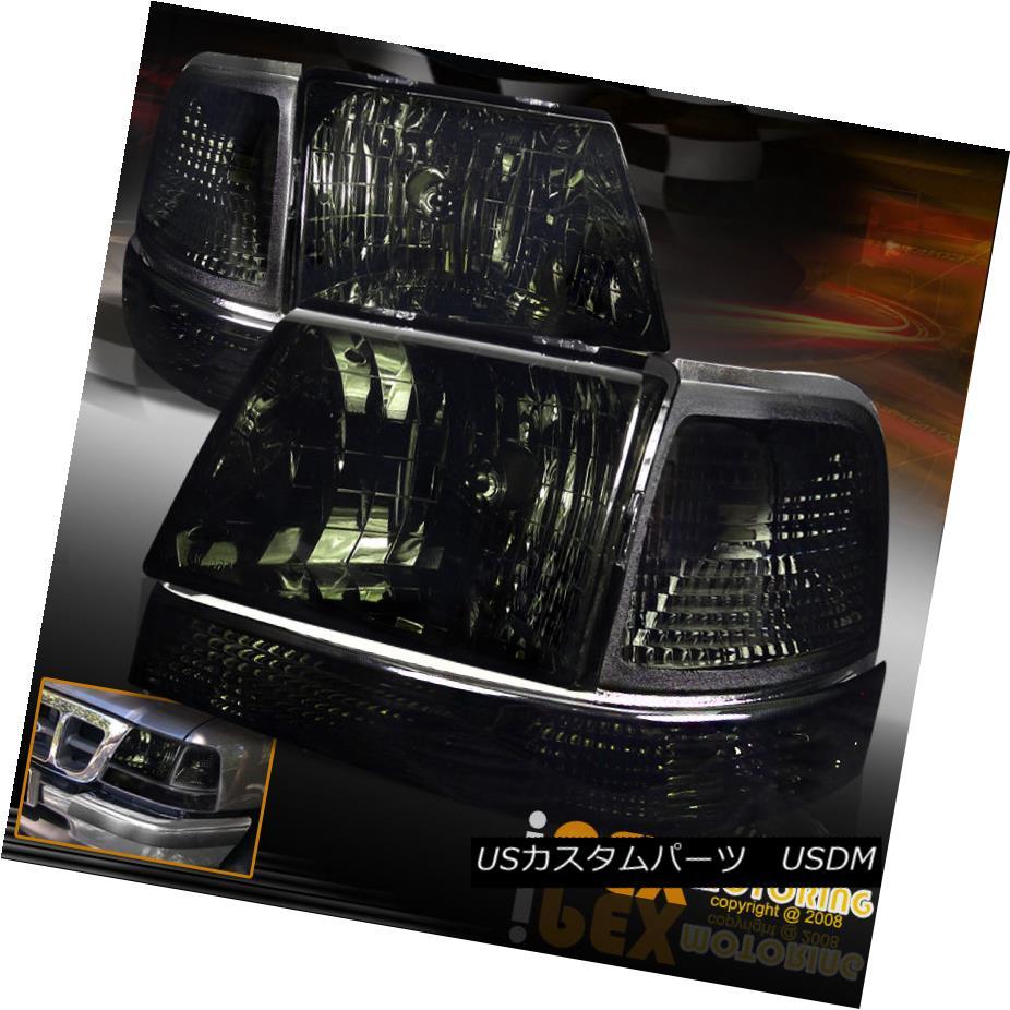 ヘッドライト (SHINY SMOKE) 1998 1999 2000 Ford Ranger Headlights W/ Corner Signal Lights Lamp (SHINY SMOKE)1998 1999 2000フォードレンジャーヘッドライトW /コーナー信号灯