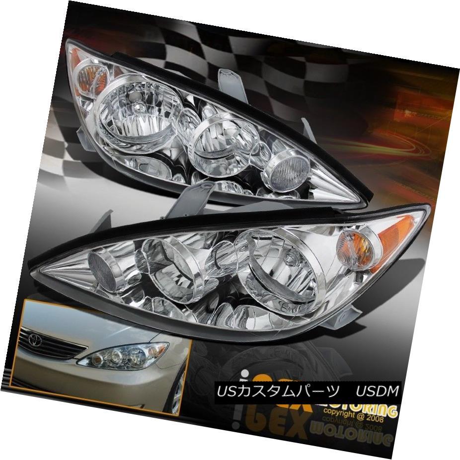 ヘッドライト For 2005-2006 Toyota Camry Chrome Driver & Passenger Headlights Headlamps 2005-2006トヨタカムリクロームドライバー& amp; 乗用ヘッドライトヘッドランプ