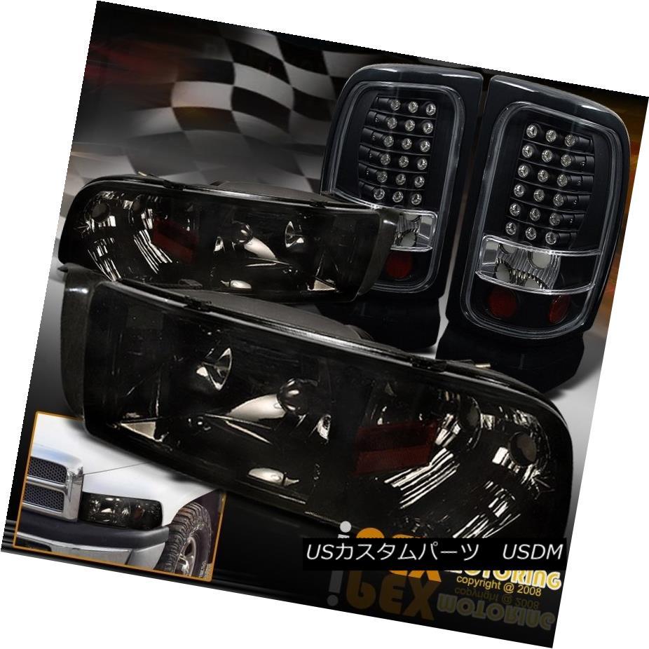 ヘッドライト (SHINY SMOKE) 94-01 Dodge Ram 1500/2500/3500 Headlights + LED Black Tail Lights (SHINY SMOKE)94-01 Dodge Ram 1500/2500/3500ヘッドライト+ LEDブラックテールライト