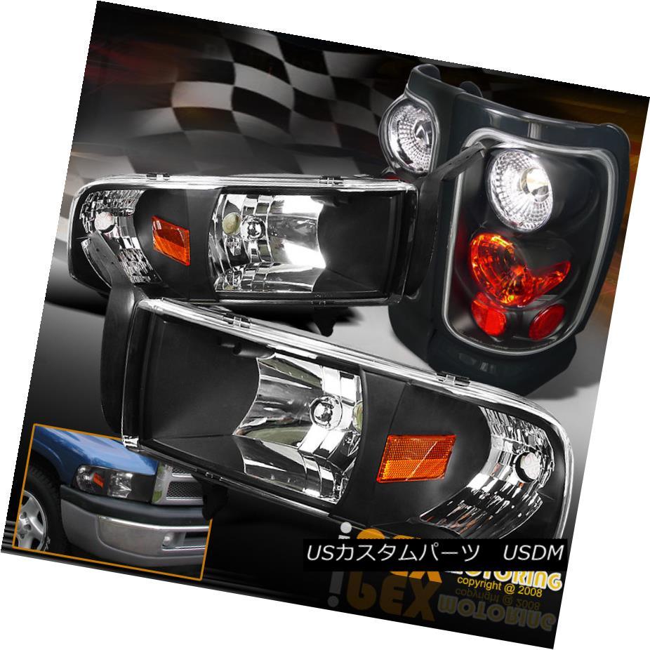 ヘッドライト 1994-2001 Dodge RAM 1500 2500 3500 Headlight w/ Corner Signal + Tail Light Black 1994-2001 Dodge RAM 1500 2500 3500コーナー信号付きヘッドライト+テールライトブラック