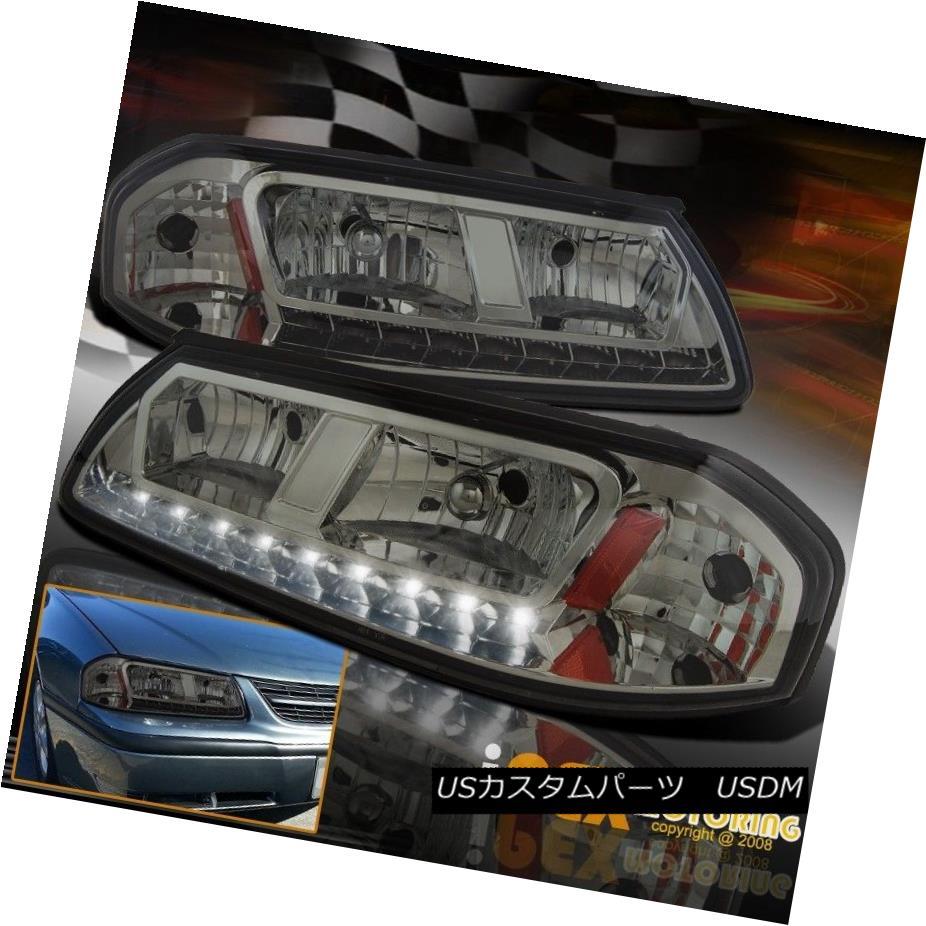 ヘッドライト New 2000-2005 Chevy Impala Base / SS / LS Sport LED DRL Smoke Headlight Headlamp 新しい2000-2005シボレーインパラベース/ SS / LSスポーツLED DRL煙ヘッドライトヘッドランプ