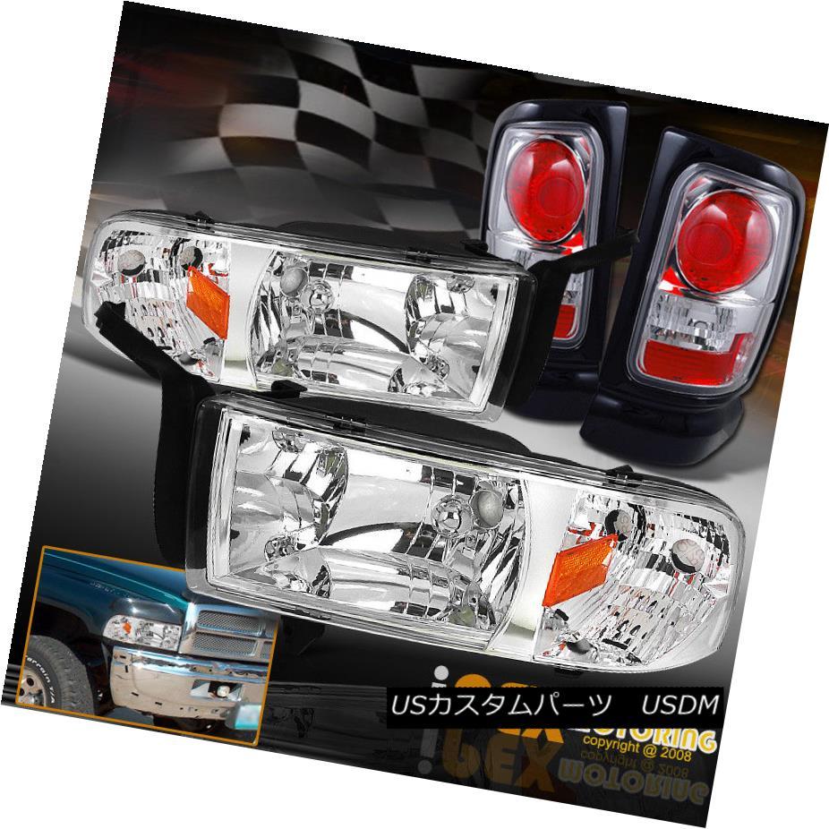 ヘッドライト (SHINY CHROME) Dodge 1994-2001 RAM 1500 2500 3500 Headlights W/ Clear Tail Light (SHINY CHROME)Dodge 1994-2001 RAM 1500 2500 3500ヘッドライトW /クリアテールライト