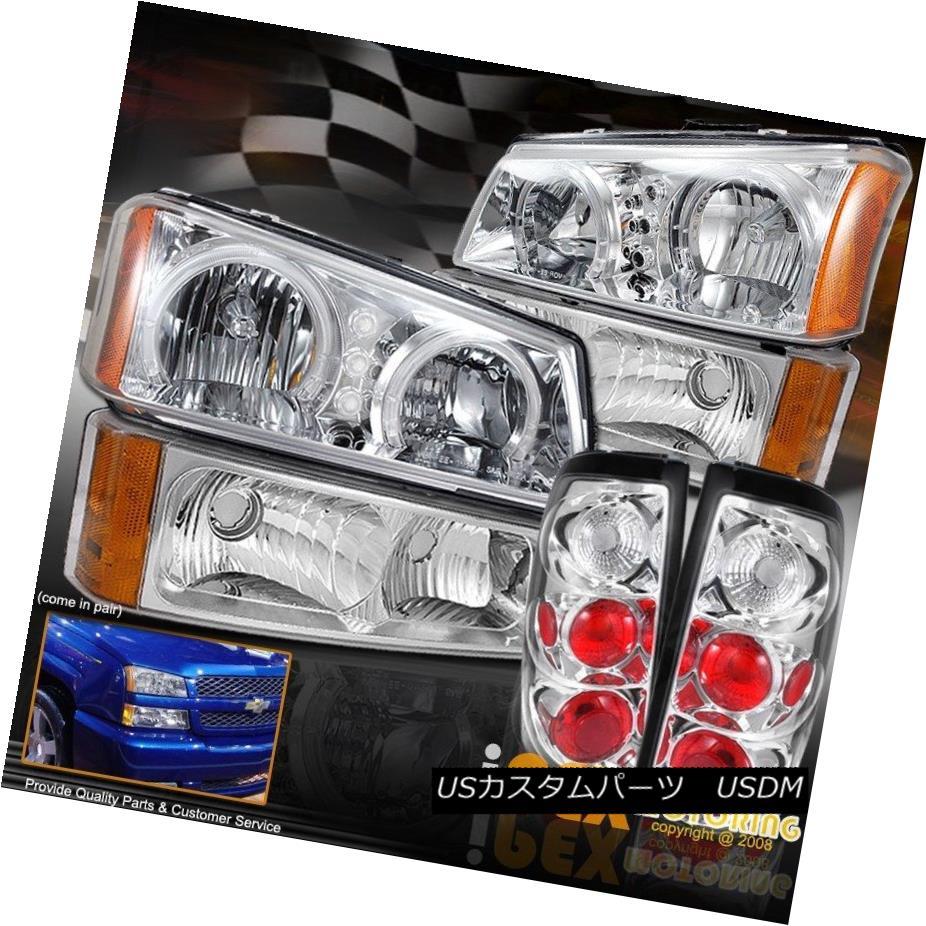 ヘッドライト [6PC] 2003-2006 Chevy Silverado 1500 2500HD Dual Halo LED Headlight + Tail Light [6PC] 2003-2006シボレーシルバラード1500 2500HDデュアルハローLEDヘッドライト+テールライト