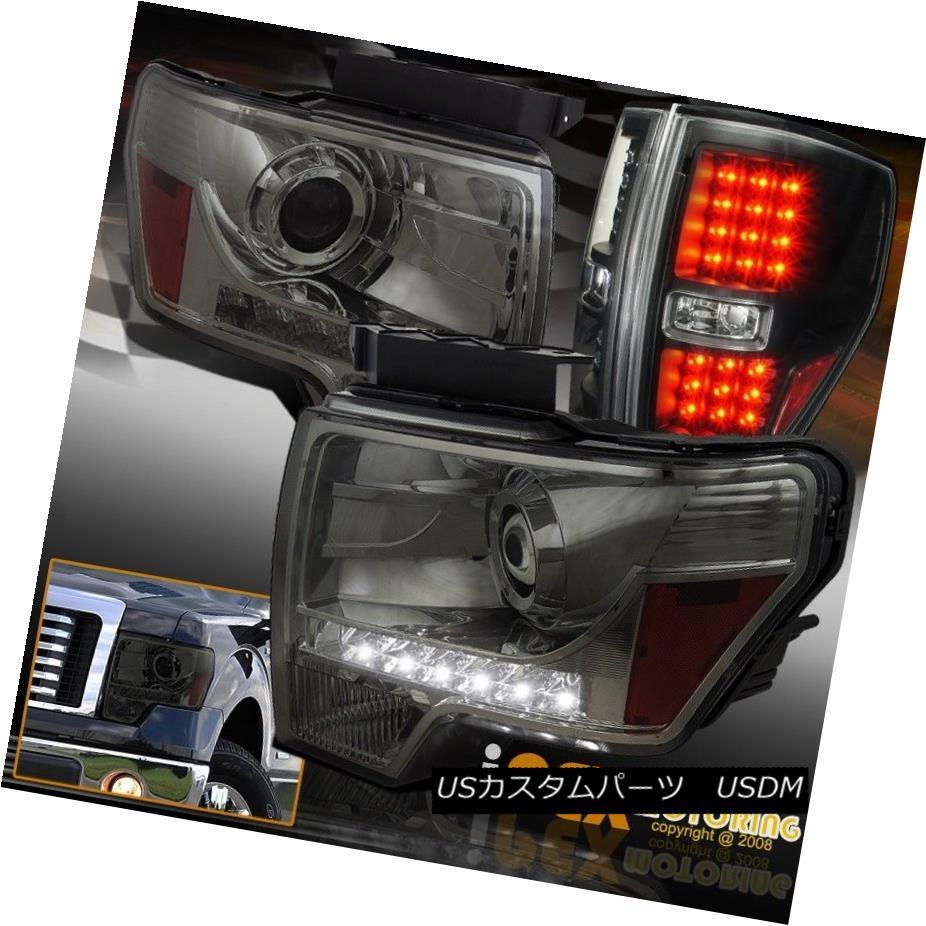 ヘッドライト 09-14 Ford F150 Projector LED Driving Head Lights W/ Super Bright LED Tail Lamps 09-14 Ford F150プロジェクターLED駆動ヘッドライトW /スーパーブライトLEDテールランプ