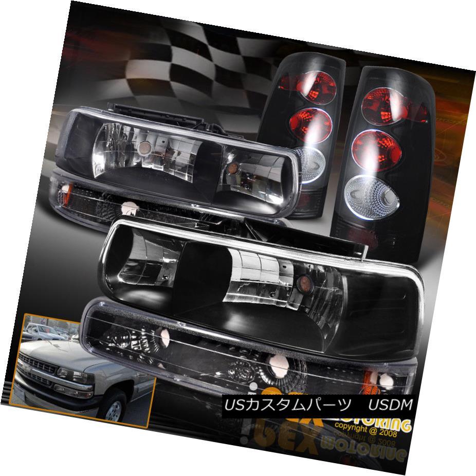 ヘッドライト [6PC] For All 1999-2000 Chevy Silverado Black Headlights + Dark Smoke Tail Light [6PC] 1999-2000シボレーシルバラードブラックヘッドライト+ダークスモークテールライト