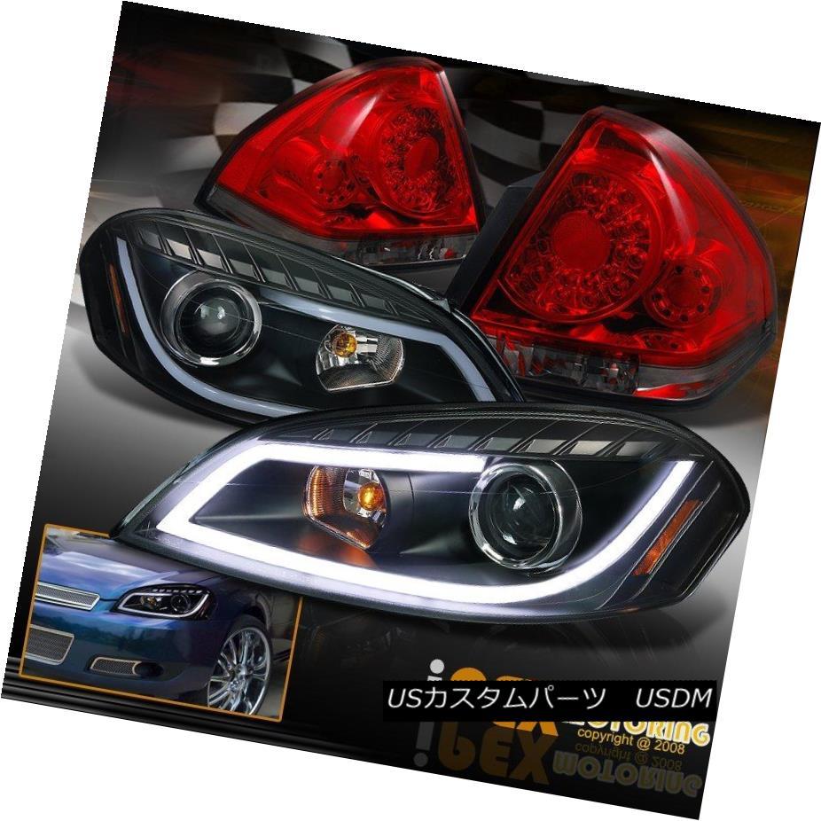 ヘッドライト 2006-2013 Impala Projector [LED Glow Strip] Black Headlights + Smoke Tail Lights 2006-2013インパラプロジェクター[LEDグローストリップ]ブラックヘッドライト+煙テールライト