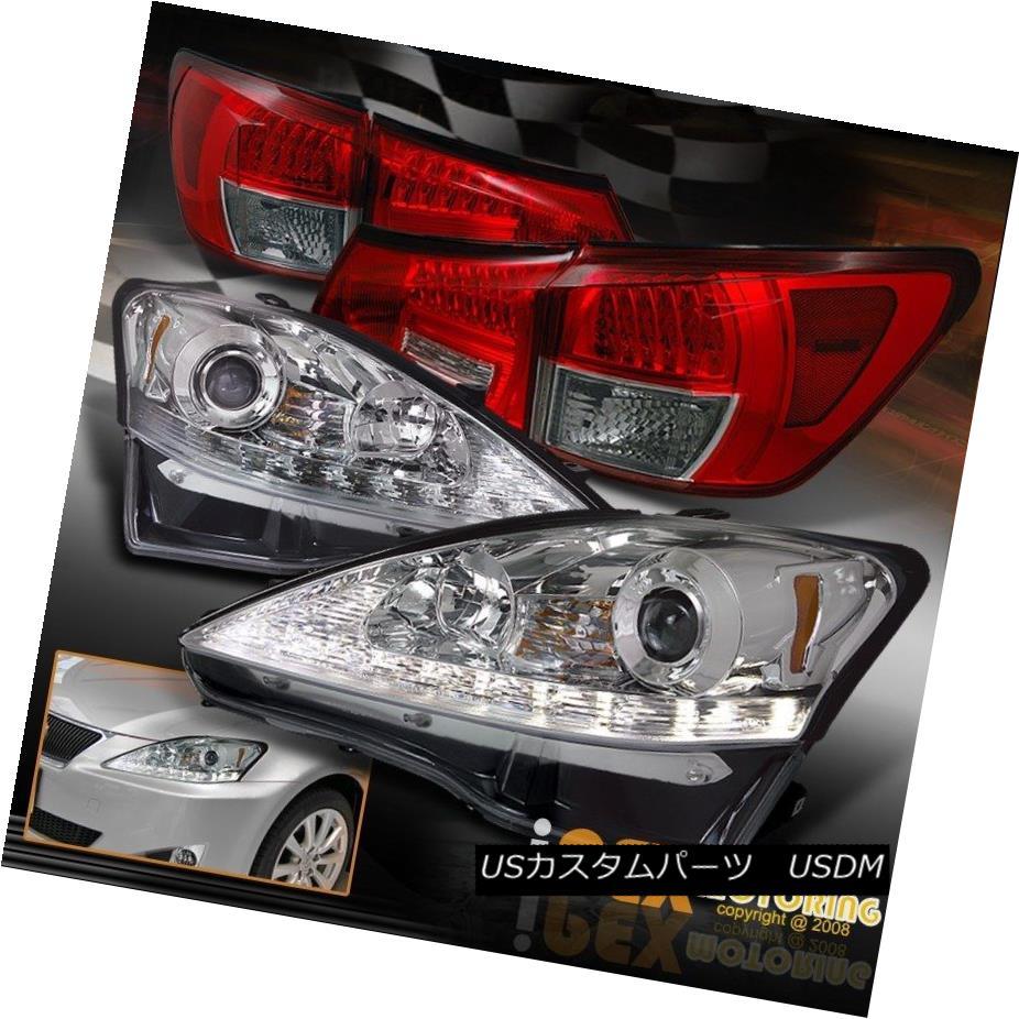 ヘッドライト 2006-2009 Lexus IS250 LED Signals Projector Chrome Headlights + LED Tail Light 2006-2009年レクサスIS250 LED信号プロジェクタークロームヘッドライト+ LEDテールライト
