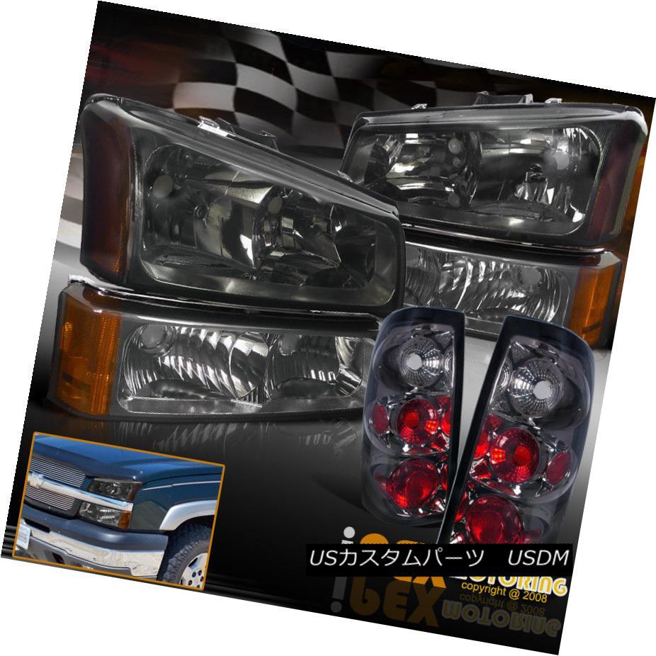 ヘッドライト 2003-2006 Silverado 1500 2500 3500 Smoke Headlights + Smoke Tail Light + Signals 2003-2006 Silverado 1500 2500 3500スモークヘッドライト+スモークテールライト+信号