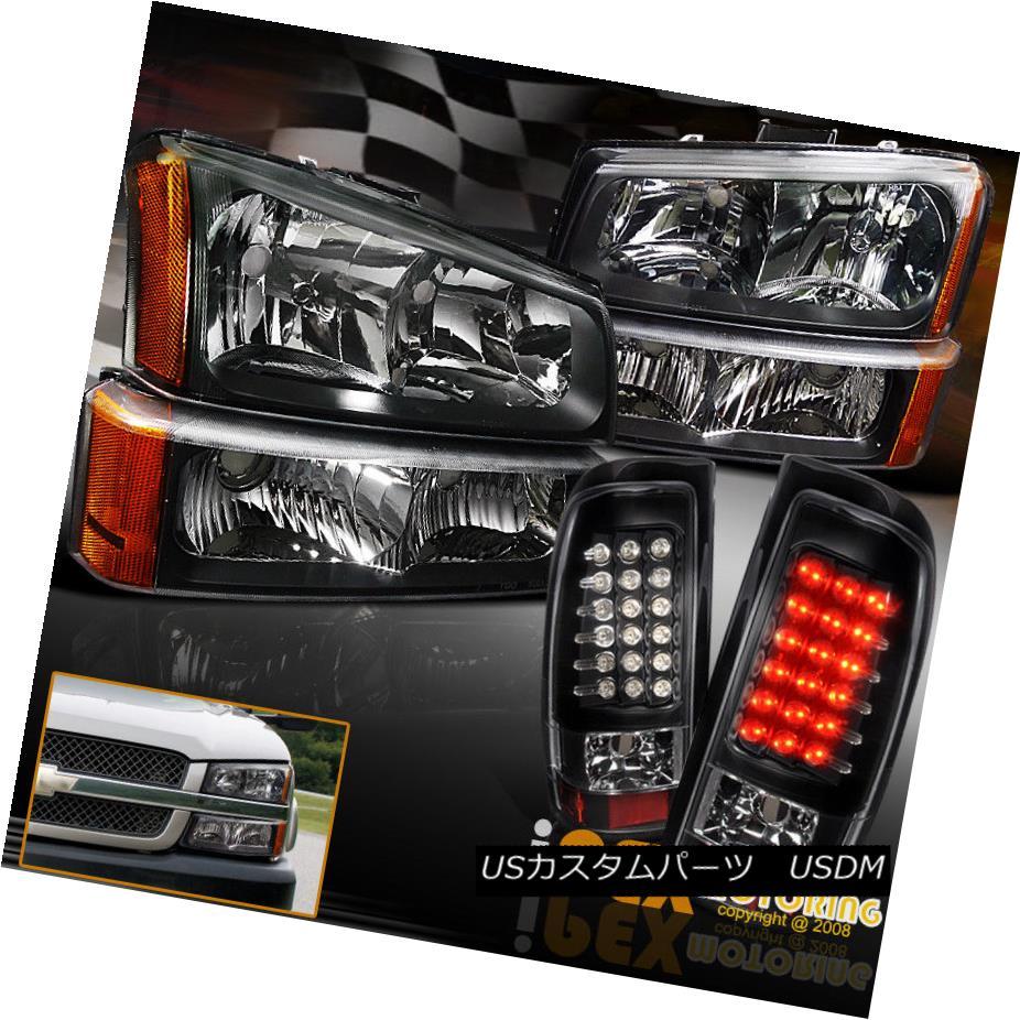 ヘッドライト 2003-2006 Silverado 1500 2500 3500 Black Headlight +Signal+ LED Black Tail Light 2003-2006 Silverado 1500 2500 3500ブラックヘッドライト+信号+ LEDブラックテールライト