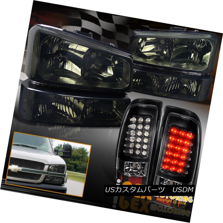 ヘッドライト 2003-2006 Chevy Silverado 1500 2500 3500 Smoke Headlights + Black LED Tail Light 2003-2006シボレーシルバラード1500 2500 3500スモークヘッドライト+ブラックLEDテールライト
