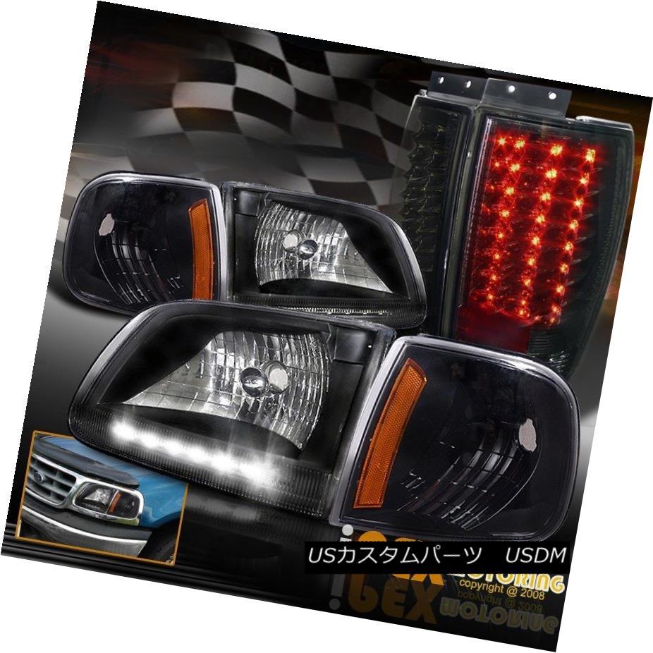 ヘッドライト 1997-2002 Expedtion Black Headlight + Corner + Special Dark Smoke LED Tail Light 1997-2002遠征ブラックヘッドライト+コーナー+特別なダークスモークLEDテールライト