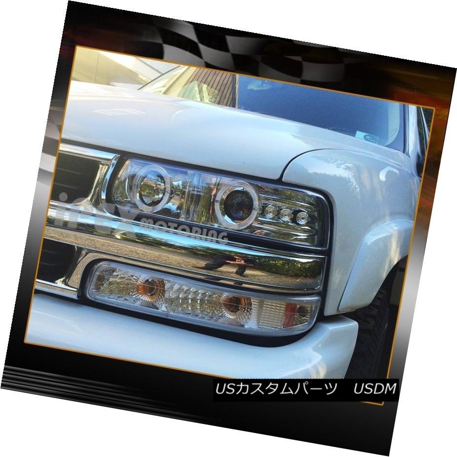 ヘッドライト 99-02 Chevy Silverado & 00-06 Tahoe Halo Projector LED Headlights + Signal Light 99-02 Chevy Silverado& 00-06タホハロープロジェクターLEDヘッドライト+シグナルライト