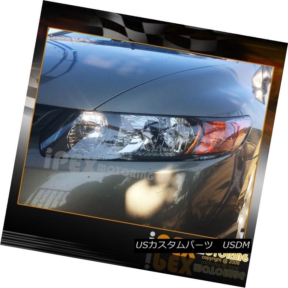 ヘッドライト 2006 2007 2008 2009 2010 2011 Honda Civic 2D JDM Style Black Headlights Headlamp 2006 2007 2008 2009 2010 2011 Honda Civic 2D JDMスタイルブラックヘッドライトヘッドランプ