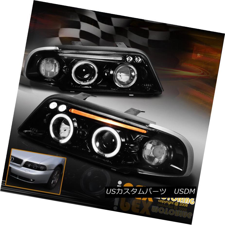 ヘッドライト For 1996-1999 A4 Quattro Wagon Sedan B5 Halo Projector LED Headlight Gloss Black 1996-1999 A4 Quattro Wagon Sedan B5 HaloプロジェクターLEDヘッドライトグロスブラック