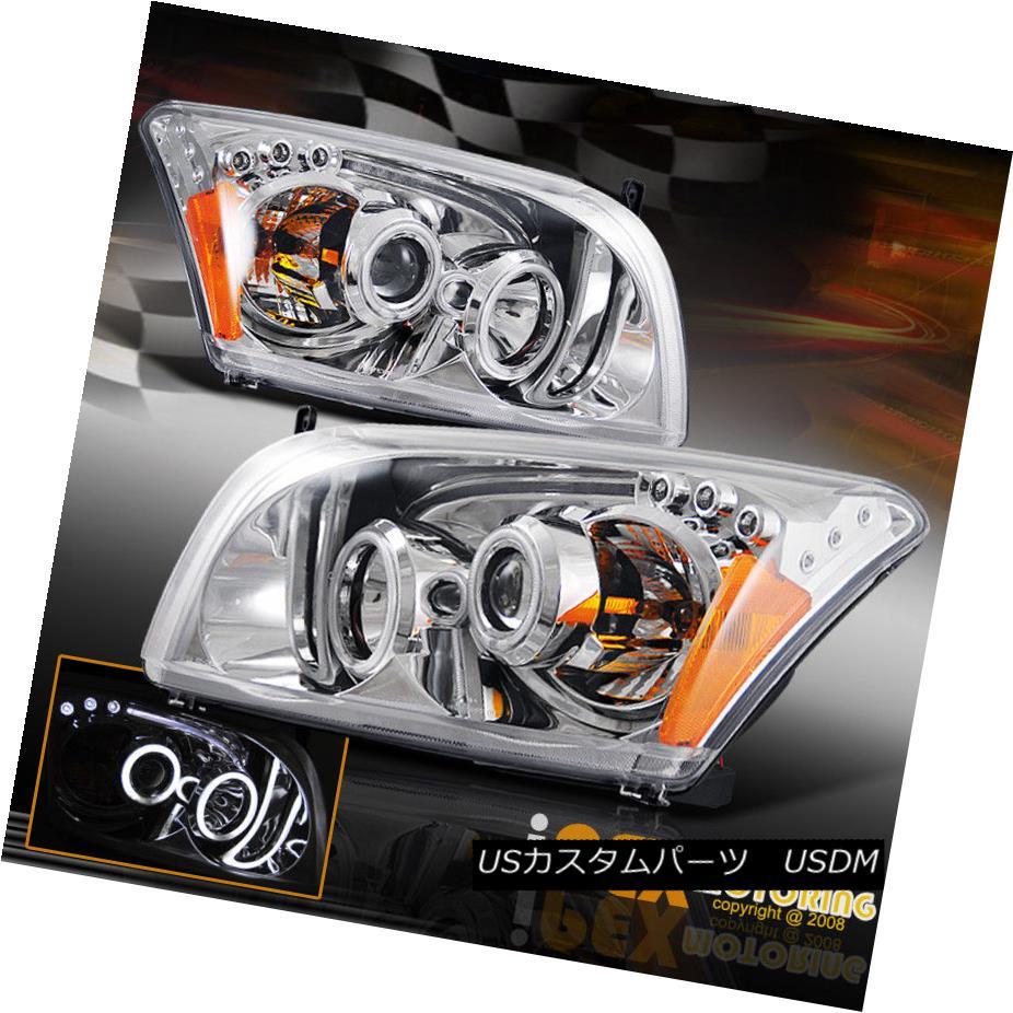 ヘッドライト 2007-2012 Dodge Caliber ( Dual CCFL Halos ) Projector LED Chrome Headlights 2007-2012 Dodge Caliber(デュアルCCFL Halos)プロジェクターLEDクロームヘッドライト