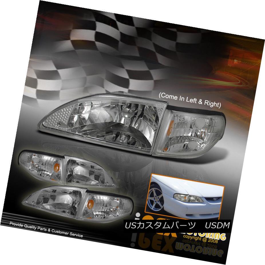 ヘッドライト PLUG N PLAY Chrome Headlights w/Corner Lights 4PC COMBO PLUG N PLAYクロムヘッドライト(コーナーライト付き)4PC COMBO