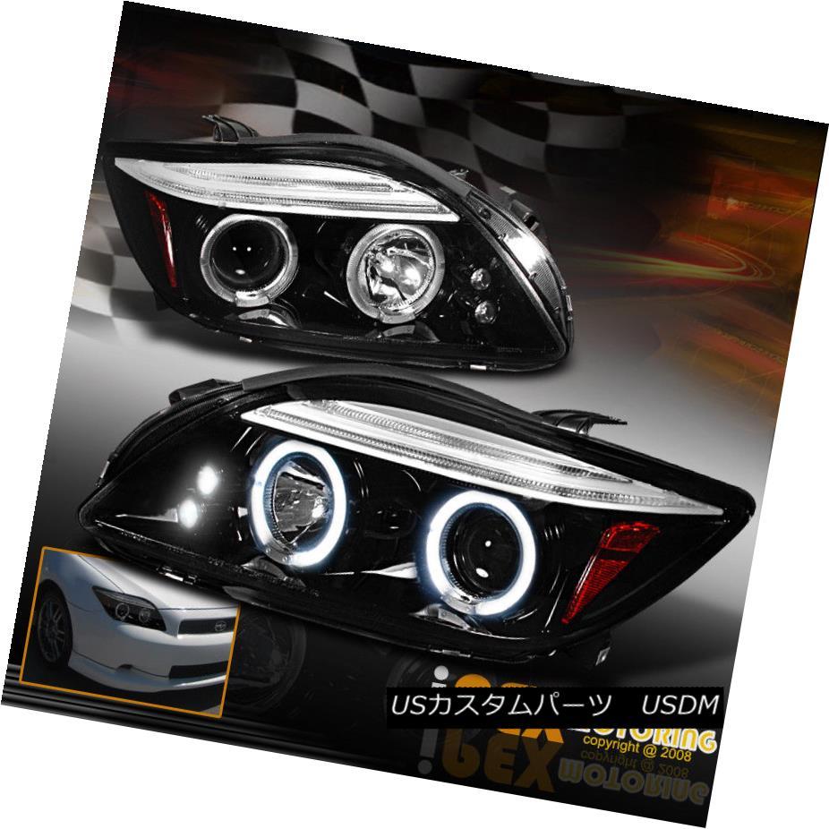 ヘッドライト Gloss Jet Black 2004-2010 Scion TC Halo LED Projector Headlights Tinted Headlamp Gloss Jet Black 2004-2010 Scion TC Halo LEDプロジェクターヘッドライトティンテッドヘッドランプ