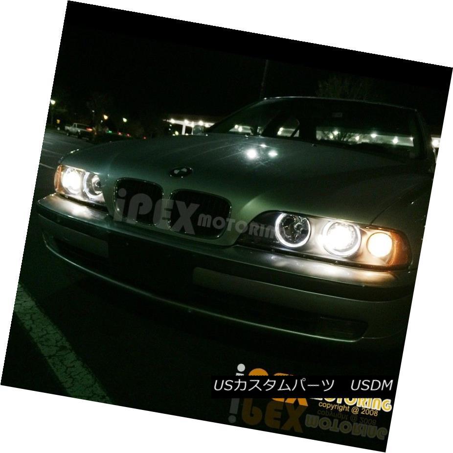 ヘッドライト NEW Top Quality 1997-2000 BMW E39 5-Series Dual Halo Projector Headlights Black NEW最高画質1997-2000 BMW E39 5シリーズデュアルハロープロジェクターヘッドライトブラック