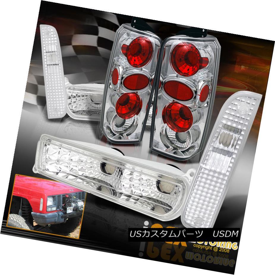 ヘッドライト 6-Piece Chrome 1997-2001 Jeep Cherokee Corner Light +Bumper Signals+ Tail Lights 6ピースクローム1997-2001ジープチェロキーコーナーライト+バンパーシグナル+テールライト