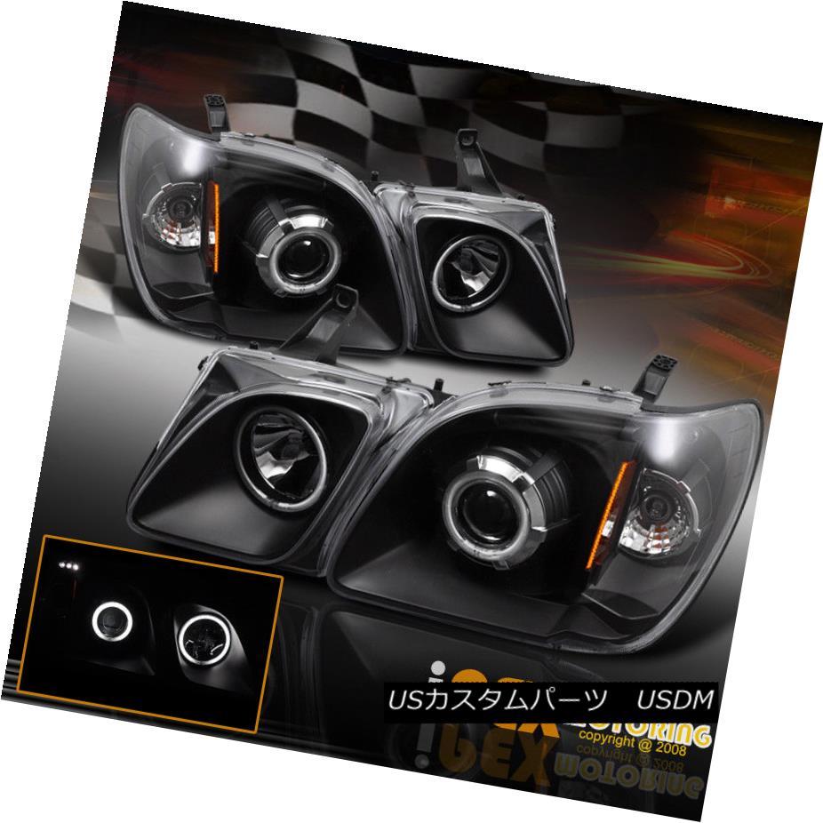 ヘッドライト 1998-2007 Lexus LX470 LX-470 Brightest CCFL Halo Projector LED Headlights Black 1998-2007 Lexus LX470 LX-470最も明るいCCFL HaloプロジェクターLEDヘッドライトブラック