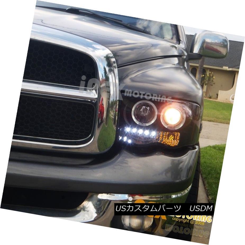 ヘッドライト [Gloss Jet Black] 2002-2005 Dodge RAM 1500 2500 Halo Projector LED Headlights [光沢ジェットブラック] 2002-2005ダッジRAM 1500 2500ハロープロジェクターLEDヘッドライト