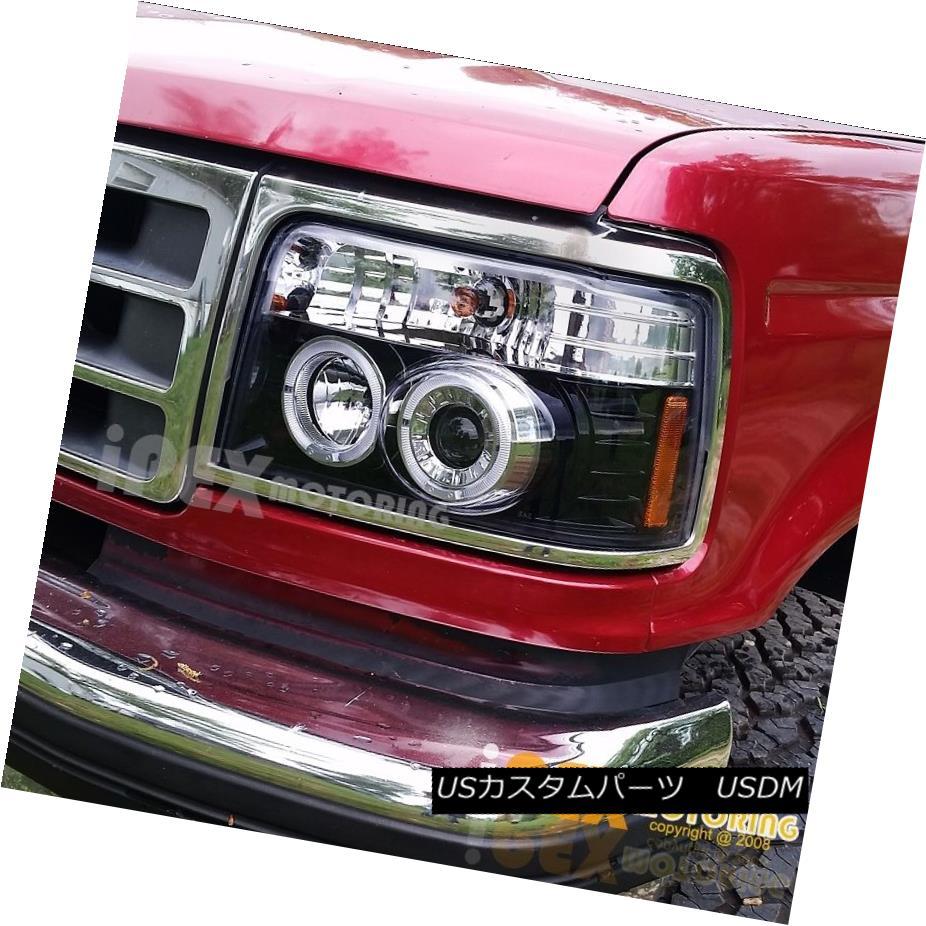 ヘッドライト NEW 1992-1996 Ford F150 F250 Bronco Halo Projector LED Headlights Shiny Black NEW 1992-1996 Ford F150 F250 Bronco HaloプロジェクターLEDヘッドライトシャイニーブラック