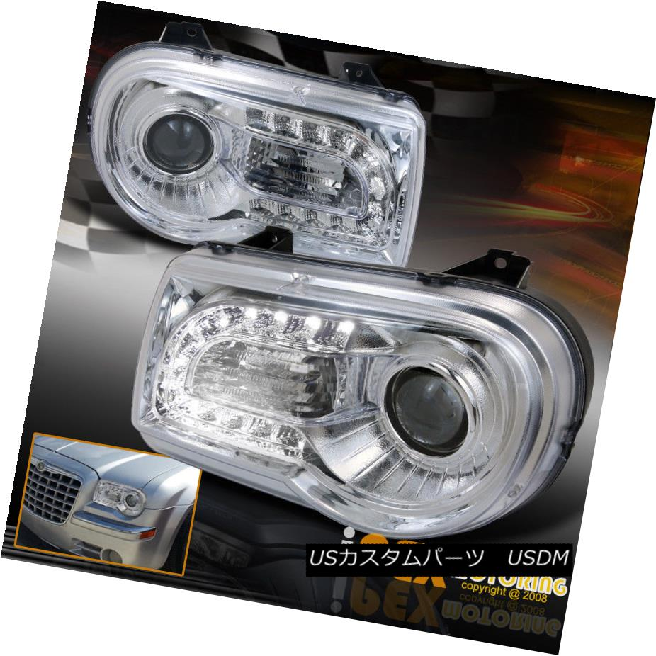 ヘッドライト 2005-2010 Chrysler 300C [Bright LED Driving Lights] Projector Headlights Chrome 2005-2010 Chrysler 300C [Bright LED Driving Lights]プロジェクターヘッドライトクローム