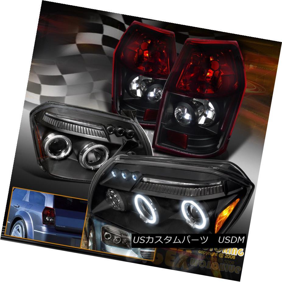 ヘッドライト 2005-2007 Dodge Magnum Halo Projector Black Headlights + Red/Black Tail Light 2005-2007 Dodge Magnum Haloプロジェクターブラックヘッドライト+レッド/ブラックテールライト