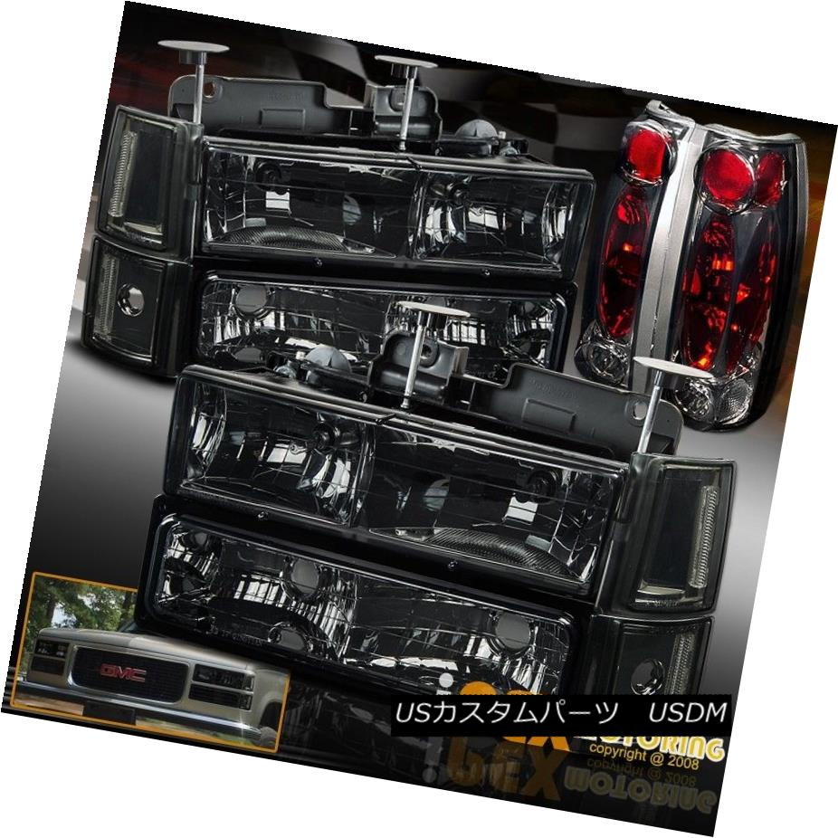 ヘッドライト (10-Piece) 94-98 GMC Sierra Yukon Smoke Headlights + Signals + Smoke Tail Lights (10ピース)94-98 GMC Sierra Yukonスモークヘッドライト+信号+煙テールライト