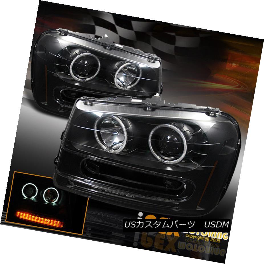 ヘッドライト 02-09 Chevy Trailblazer CCFL Halo Projector Black Head Light w/ LED Turn Signals 02-09 Chevy Trailblazer CCFL Haloプロジェクターブラックヘッドライト/ LEDターンシグナル