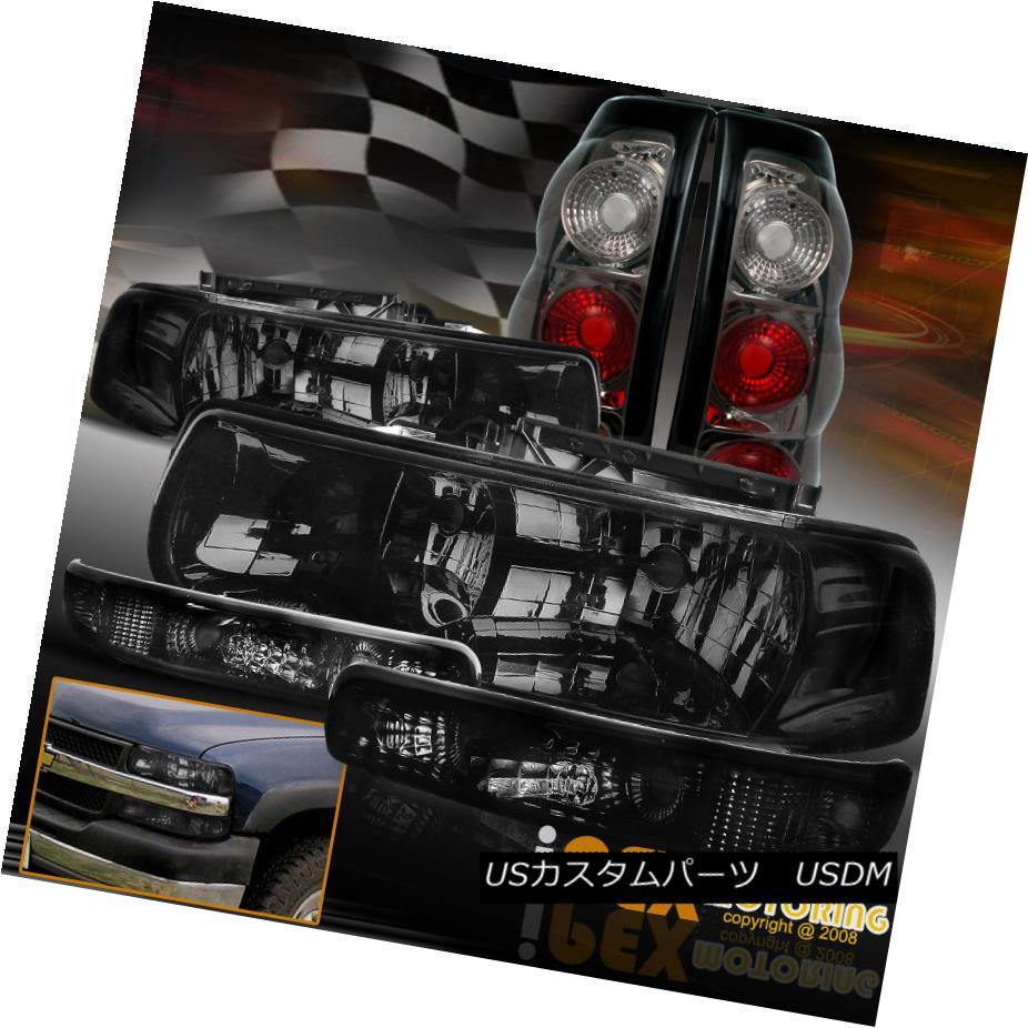 ヘッドライト (SHINY SMOKE) 1999-2002 Chevy Silverado Headlights + Signals + Smoke Tail Lights (SHINY SMOKE)1999-2002 Chevy Silveradoヘッドライト+信号+煙テールライト