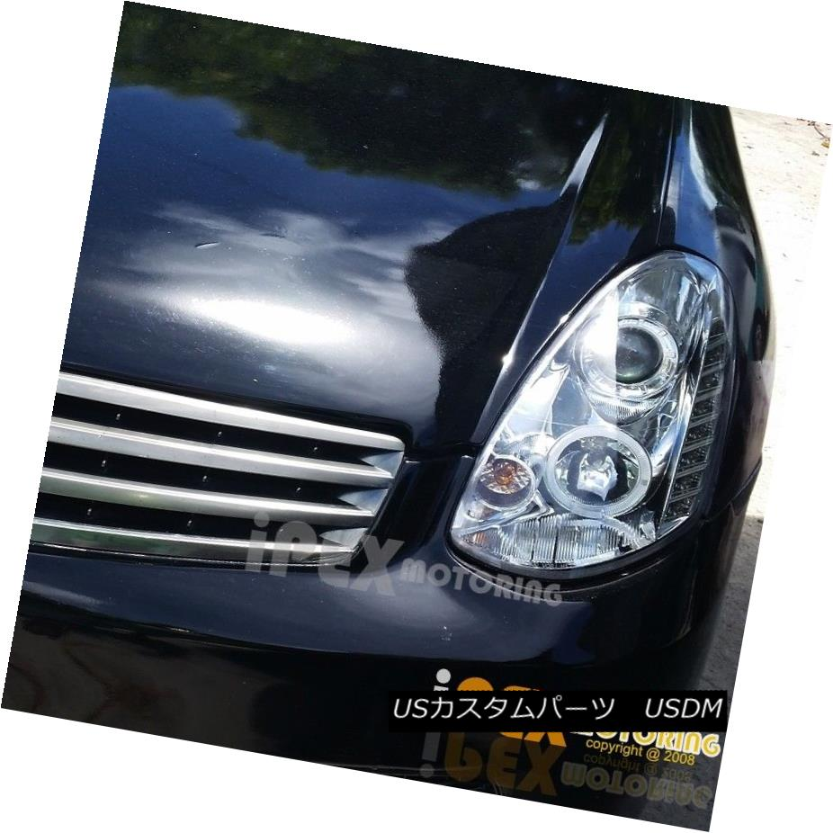 ヘッドライト For 2005-2006 Infiniti G35 4Dr Sedan ( ULTRA LED DRL Bar ) Projector Headlights 2005-2006インフィニティG35 4Drセダン(ULTRA LED DRLバー)用プロジェクターヘッドライト