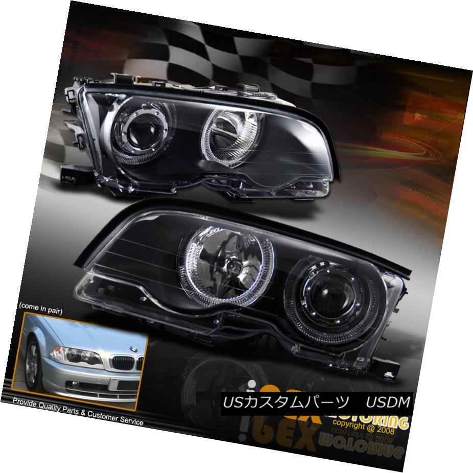 ヘッドライト 2000-2003 BMW 3-Series 325/330/328 2DR Coupe Dual Halo Rim Projector head light 2000-2003 BMW 3シリーズ325/330/328 2DRクーペデュアルハローリムプロジェクターヘッドライト