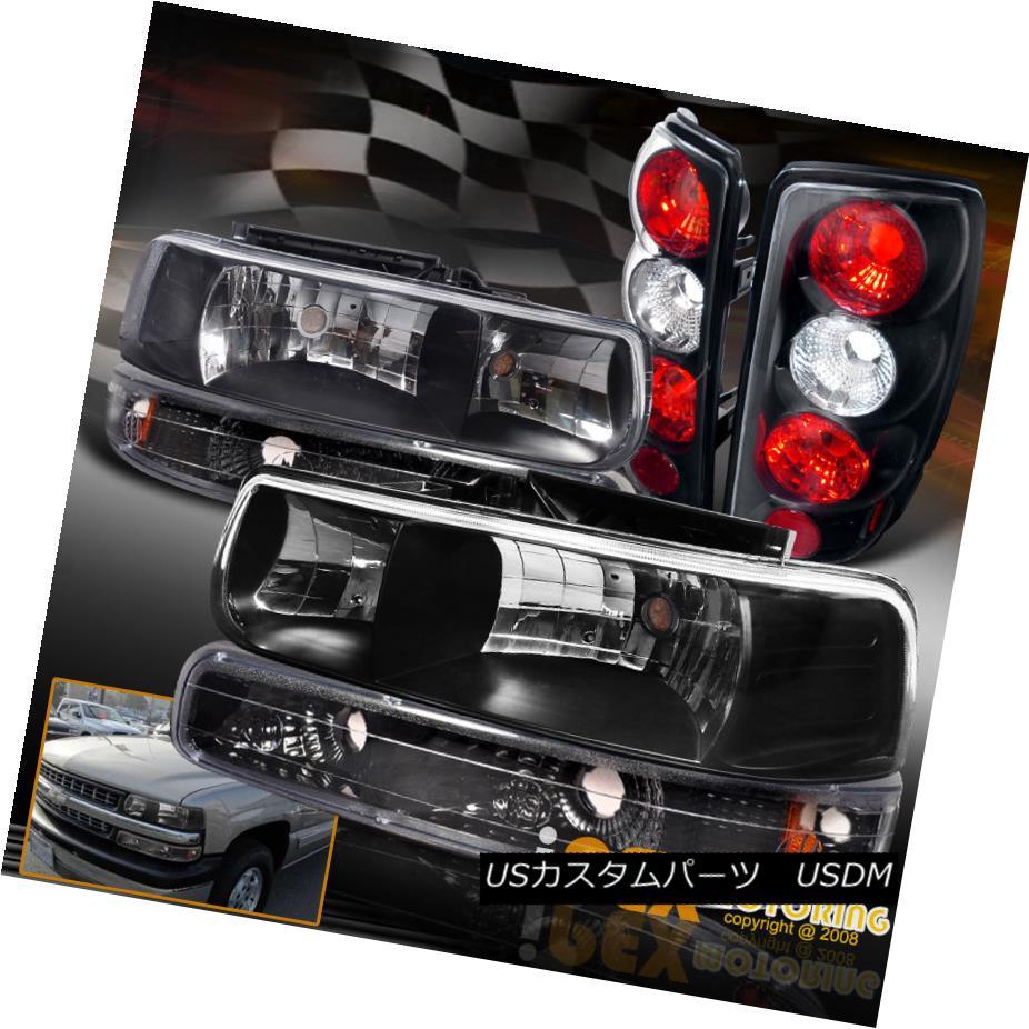 ヘッドライト ( Black Combo ) 2000-2006 Chevy Suburban/Tahoe Headlights + Signals + Tail Light (ブラックコンボ)2000-2006シボレー郊外/タホヘッドライト+信号+テールライト