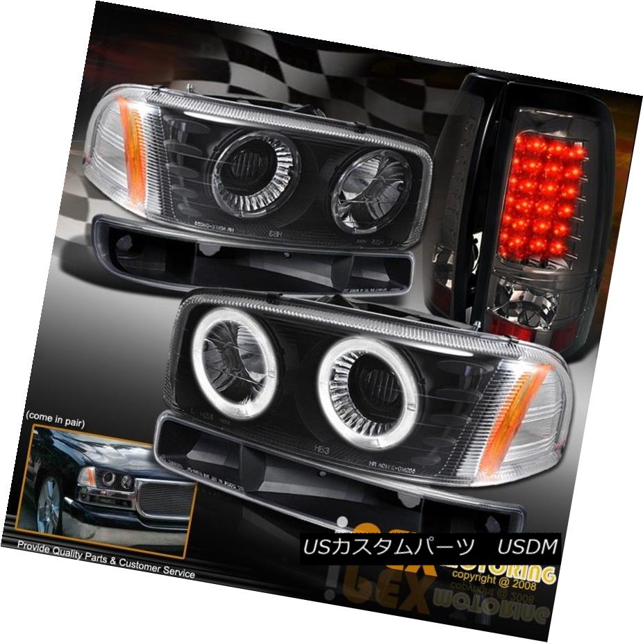 ヘッドライト GMC SIERRA 1500/2500/2500HD Projector Black Headlights W/ LED Tail Light COMBO GMC SIERRA 1500/2500/2500  HDプロジェクターブラックヘッドライトW / LEDテールライトコンボ