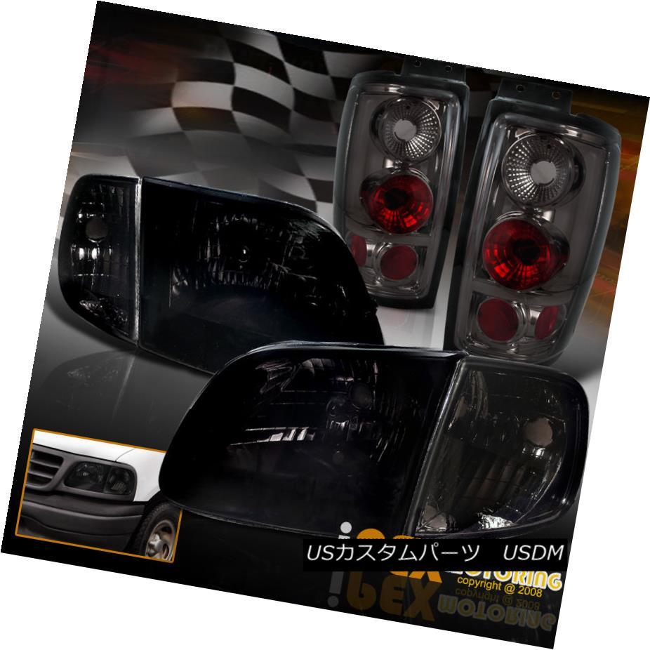 ヘッドライト 1997-2002 Ford Expedition Shiny Smoke Headlights + Corner + Smoked Tail Lights 1997-2002 Ford Expeditionシャイニー・スモーク・ヘッドライト+コーナー+スモークテール・ライト