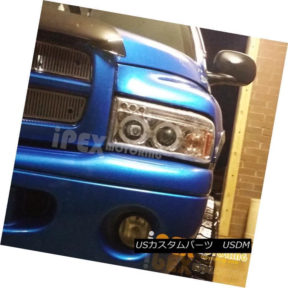 ヘッドライト For 1997-2001 Dodge Ram 1500 SPORT Models Halo Projector LED Chrome Headlights 1997-2001 Dodge Ram 1500スポーツモデルHaloプロジェクターLED Chromeヘッドライト