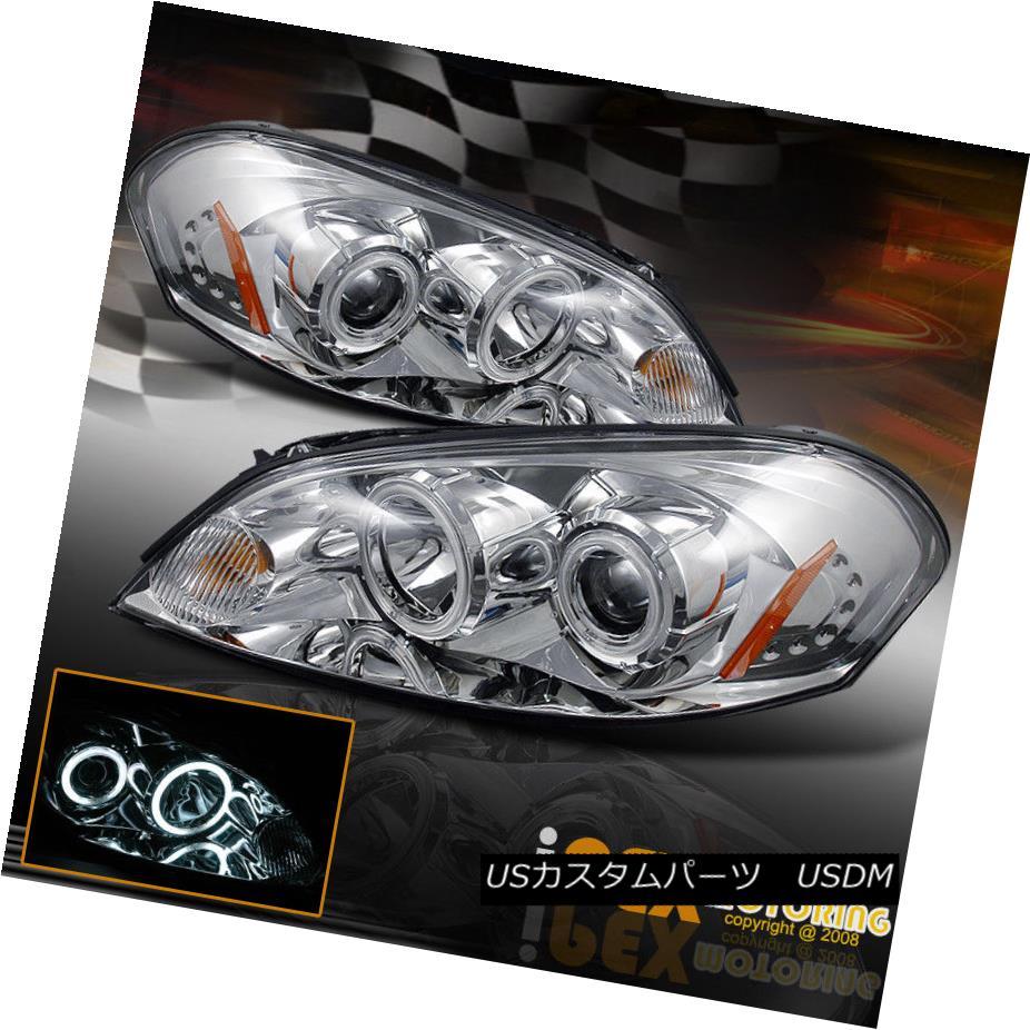 ヘッドライト 2006-2011 Chevy Impala/06-07 Monte Carlo CCFL Halo Projector Headlights Chrome 2006-2011シボレーインパラ/ 06-07モンテカルロCCFLハロープロジェクターヘッドライトクローム