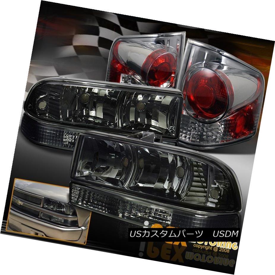 ヘッドライト 1998-2004 Chevy S10 Smoke Headlight + Bumper Signal Lamp + Soft-Smoke Tail Light 1998-2004シボレーS10煙ヘッドライト+バンパーシグナルランプ+ソフト煙テールライト