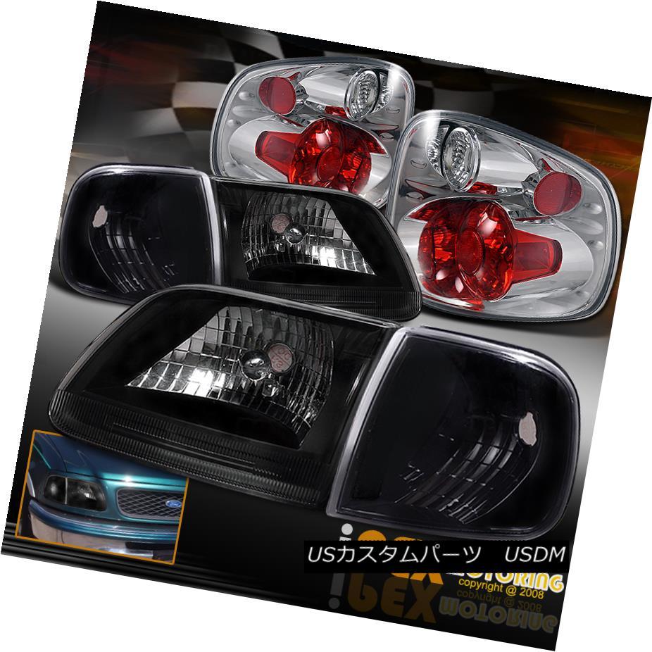 ヘッドライト For FlareSide 1997-2000 Ford F150 Black Head Light +