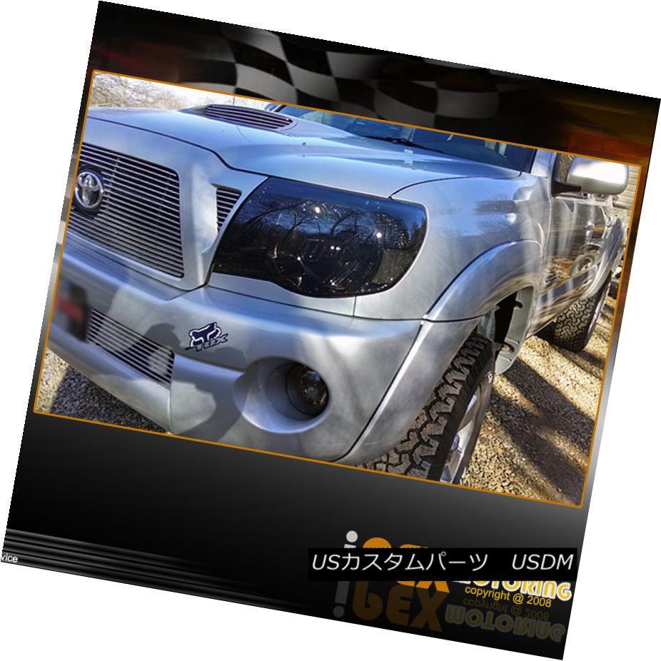 ヘッドライト For All 2005-2011 Toyota Tacoma BlackOut Smoke Headlights Headlamps Left + Right トヨタタコマブラックアウトトータススモークヘッドライトヘッドライト左+右