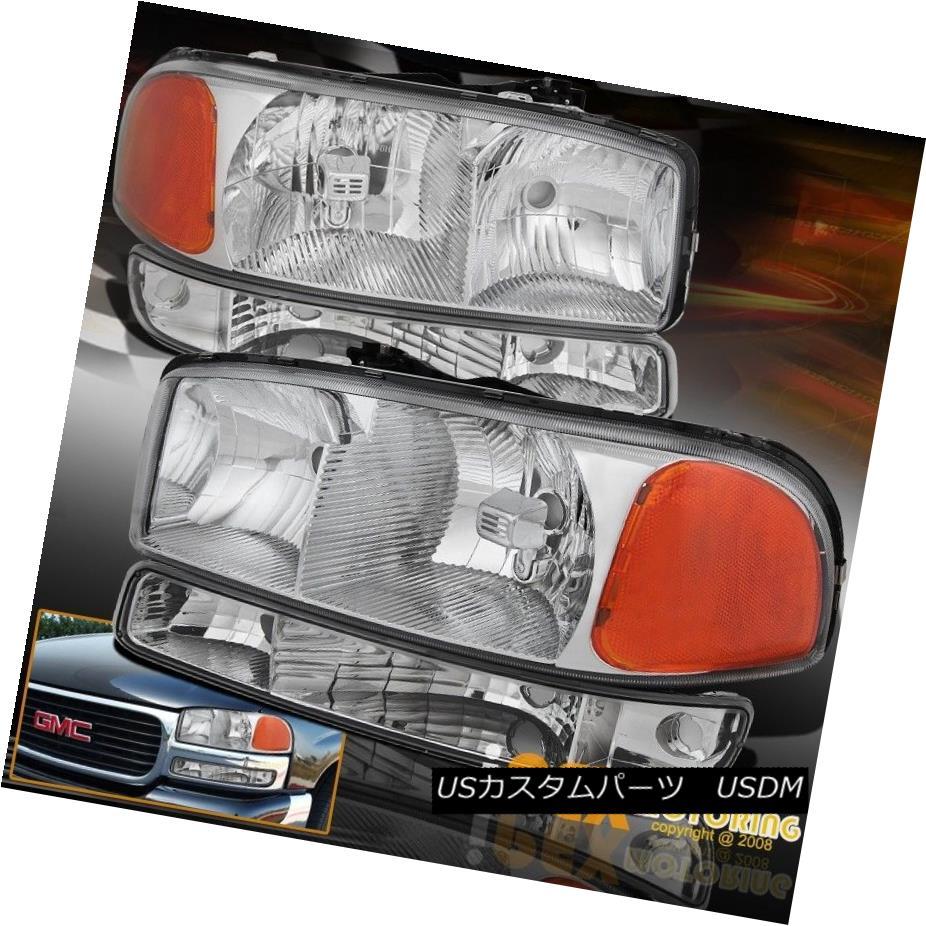 ヘッドライト New 1999-2006 GMC Sierra /2000-2006 Yukon Chrome Headlight + Bumper Signal Light New 1999-2006 GMC Sierra / 2000-2006ユーコンクロームヘッドライト+バンパーシグナルライト