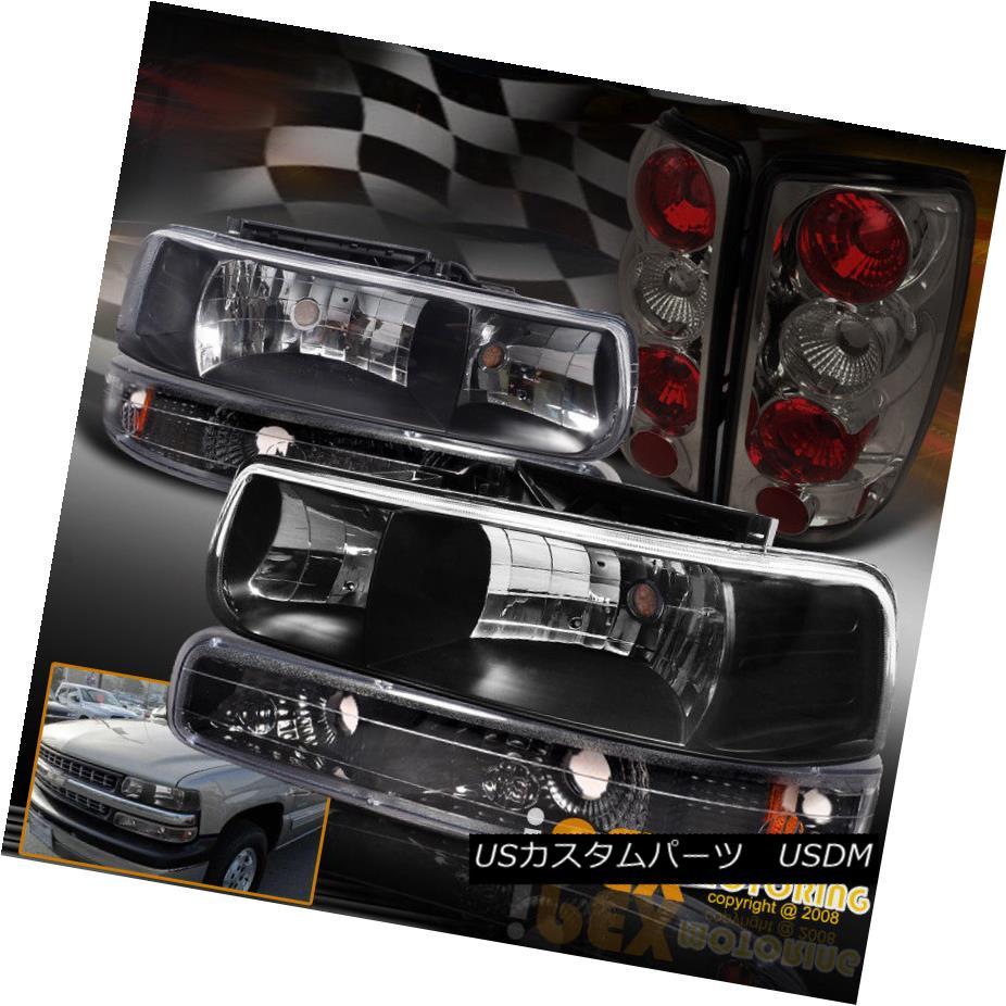 ヘッドライト [6PC] 2000-2006 Chevy Suburban/Tahoe Black Headlights W/Signals+Smoke Tail Light [6PC] 2000-2006シボレー・サバーバン/タホ・ブラック・ヘッドライト・シグナル/スモーク eテール・ライト
