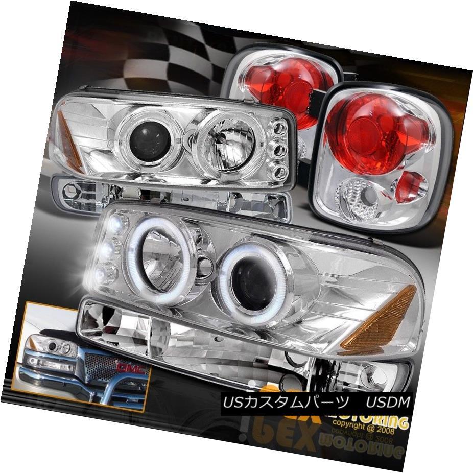 ヘッドライト For (StepSide) 1999-2004 GMC Sierra Projector LED Headlight W/ Signal+Tail Light 1999-2004 GMC SierraプロジェクターLEDヘッドライトW /シグナル+テールライト用(ステップサイド用)