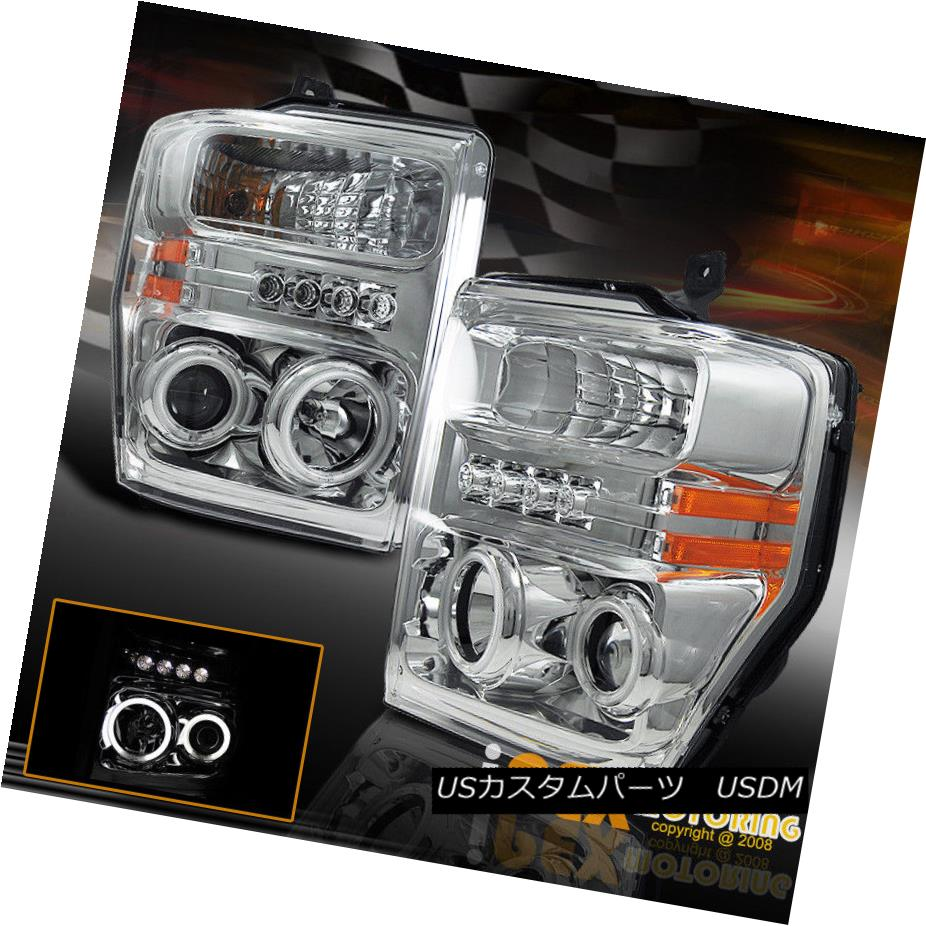 ヘッドライト 2008-2010 FORD F250 F350 **DUAL CCFL HALO RIM+LED LIGHTS** PROJECTOR HEADLIGHTS 2008-2010 FORD F250 F350 **デュアルCCFLハロー・リム+ LEDライト**プロジェクター・ヘッドライト