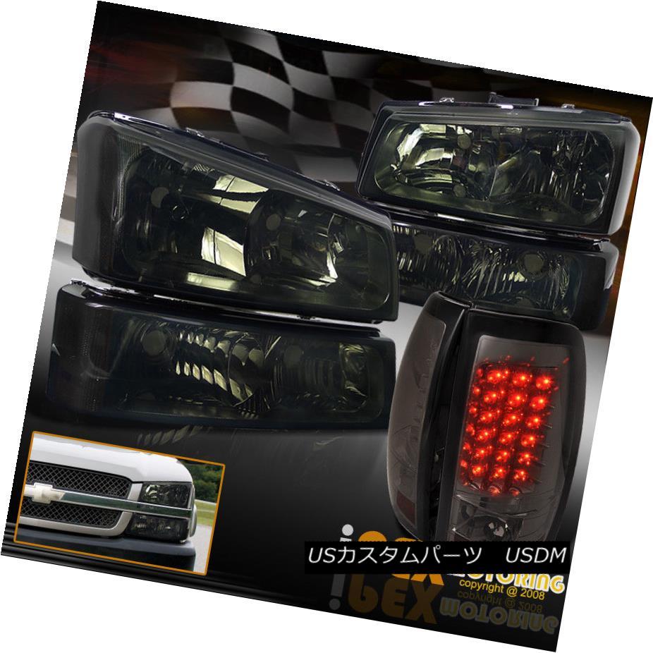 ヘッドライト [SMOKE] 2003-2006 Chevy Silverado 1500 2500HD Headlights+Signals+LED Tail Lights [SMOKE] 2003-2006シボレーシルバラード1500 2500HDヘッドライト+ SIG  nals + LEDテールライト