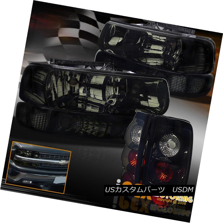 ヘッドライト 1999-2002 Chevy Silverado Smoke Headlights + Signals + Smokey Black Tail Lights 1999-2002 Chevy Silveradoヘッドライト+信号+スモーキーブラックテールライト