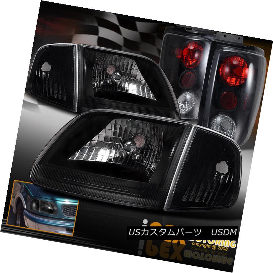 ヘッドライト NEW 1997-2002 Ford Expedition Black Headlight + Signals +Dark Smoke Tail Light NEW 1997-2002 Ford Expeditionブラックヘッドライト+シグナル+ダークスモークテールライト